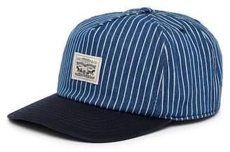 Levi's Denim Striped Baseball Cap
