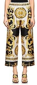 Versace Women's Baroque-Print Crop Pants - Gold