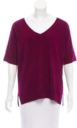 Prada Cashmere Short Sleeve Sweater