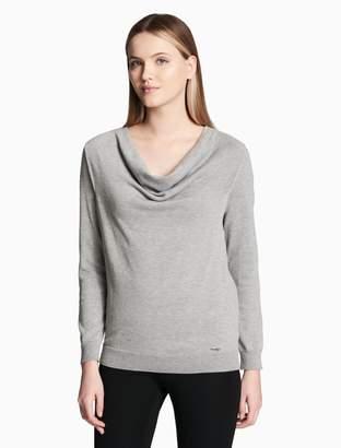 Calvin Klein drape neck pullover sweater