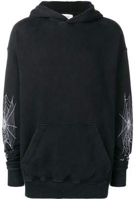 Rhude spider web hoodie