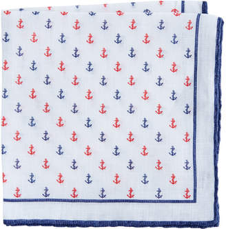 Vineyard Vines Anchor Woven Pocket Square