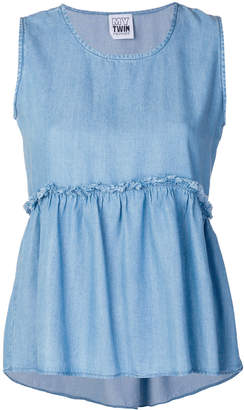 Twin-Set ruffled hem top