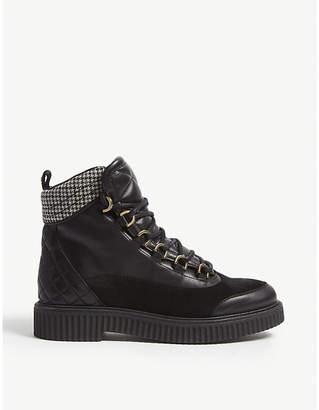 Claudie Pierlot Alerte leather hiker boot