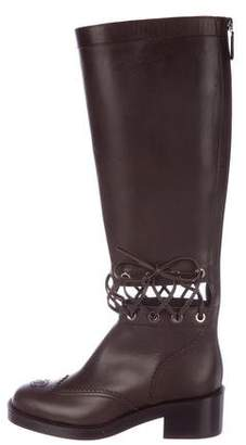 Chanel 2016 Leather Lace-Up Boots