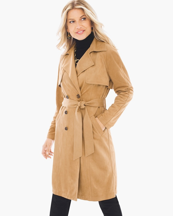 Chico'sFaux-Suede Trench Jacket