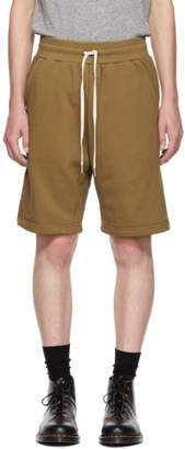 John Elliott Brown Sweat Shorts