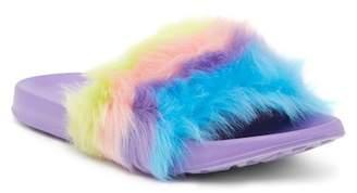 Skechers Sunny Slides Faux Fur Sandal (Little Kid & Big Kid)