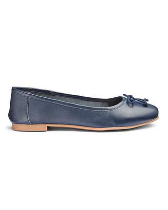 36368c46568a9 Navy Leather Ballerina Shoes - ShopStyle UK