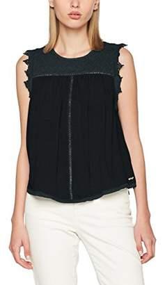 Khujo Women's Aris Woven Top Short T-Shirt,(Manufacturer Size: Small)