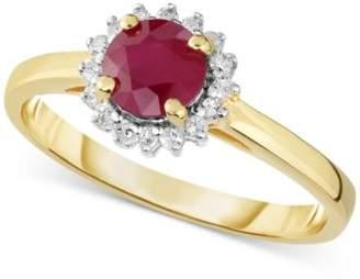 Macy's Certified Ruby (3/4 ct. t.w.) & Diamond (1/8 ct. t.w.) Ring in 14k Gold