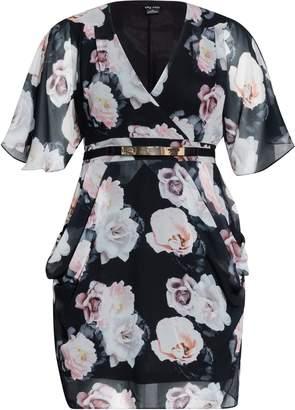 9c3b97768c Evans **City Chic Black Floral Print Dress