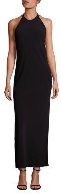 Polo Ralph Lauren Crepe Halter Gown $498 thestylecure.com
