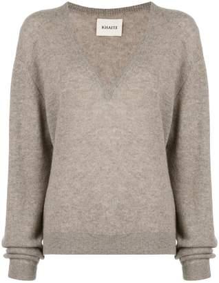 KHAITE Sam V Neck Thin Cashmere Sweater