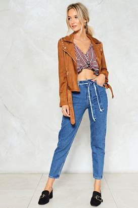 Nasty Gal A-frayed Not Belted Jeans