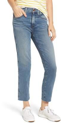 Caslon Raw Hem Slim Straight Leg Jeans