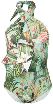 Patbo Paradise ruffled swimsuit