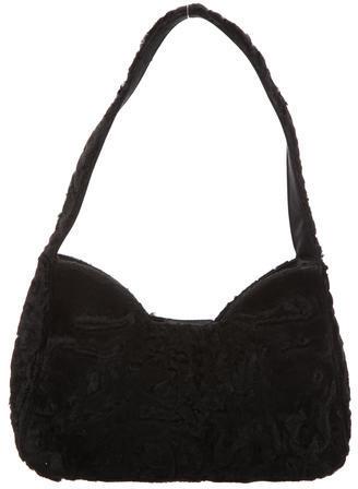 pradaPrada Fur Shoulder Bag