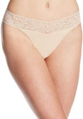 Hanky Panky Women's Cotton Original Rise Thong Panty
