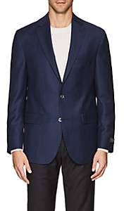 Jack Victor MEN'S NEAT WOOL TWO-BUTTON SPORTCOAT-BLUE SIZE 40 L