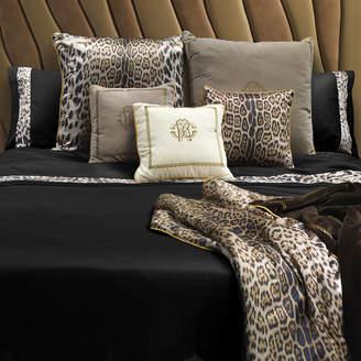 Roberto Cavalli Leopard Border Bed Set