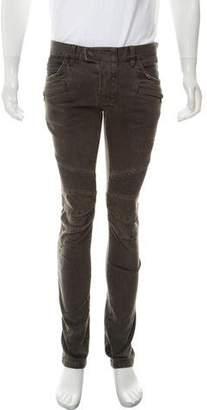 Balmain Moto Slim Fit Jeans