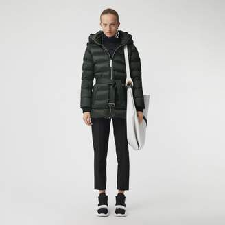 Burberry Down-filled Hooded Puffer Coat , Size: M, Green
