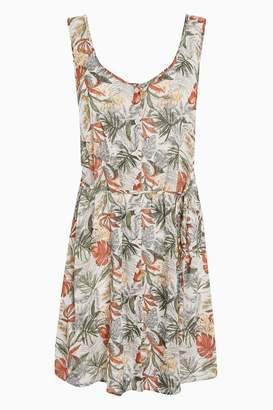 Next Womens Floral Print Button Through Dress
