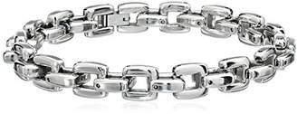 Cold Steel Stainless Steel Square Men's Link Bracelet