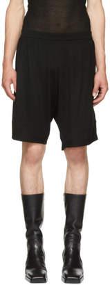 Rick Owens Black Merino Boxer Shorts