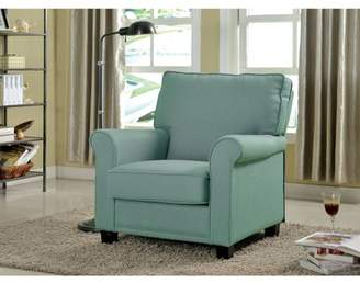 Furniture of America Neely Transitional Flax Fabric Accent Chair, Multiple Colors
