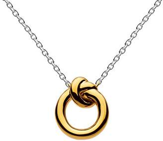 Kit Heath Sterling Silver and Gold Plated Amity Knot Necklace of Length 45.7 cm