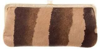 Lambertson Truex Ponyhair & Leather Clutch