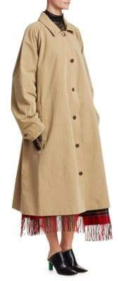 Vetements Scarf Cotton Trench Coat