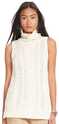 Polo Ralph Lauren Cable Sleeveless Turtleneck $298 thestylecure.com