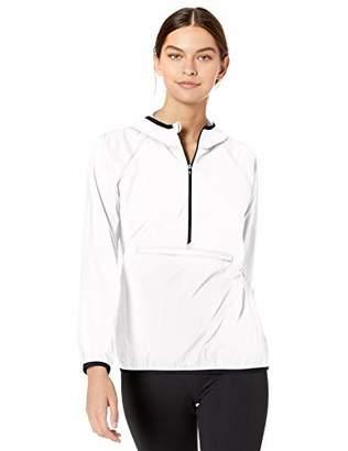 Cutter & Buck Women's Breaker Half Zip Long Sleeve Hooded Popover Jacket