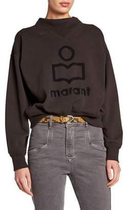 Etoile Isabel Marant Moby Textured Logo Pullover Sweatshirt