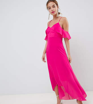 True Decadence TD by Petite Cold Shoulder Maxi Dress
