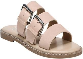 Franco Sarto Slip on Buckle Sandals - Kasa