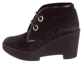 Robert Clergerie Clergerie Paris Suede Wedge Booties