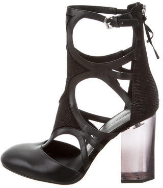 Rebecca MinkoffRebecca Minkoff 2016 Leather Cutout Ankle Boots