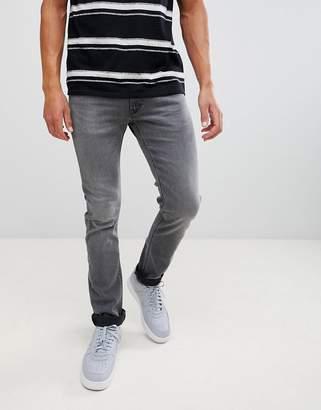 Lee Jeans Luke slim tapered jeans in gray worn