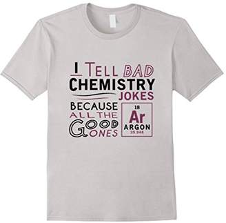 R & E Funny Chemistry / Science T-shirt re: Bad Jokes Argon