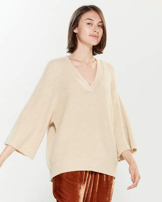 Roberto Collina V-Neck 3/4 Sleeve Sweater