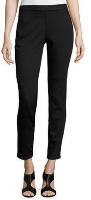 Eileen Fisher Lightweight Denim Leggings, Black $228 thestylecure.com
