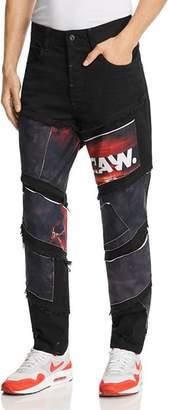 G Star x Jaden Smith Spiraq Slim Fit Patchwork Jeans in Medium Aged Black