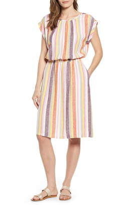 Caslon Stripe Linen Dress