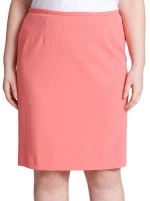 Calvin Klein Plus Classic Pencil Skirt