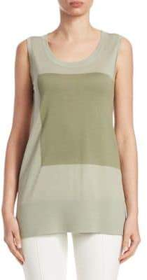 Akris Punto Wool Colorblock Tank Top