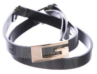 Gucci Leather Narrow Belt